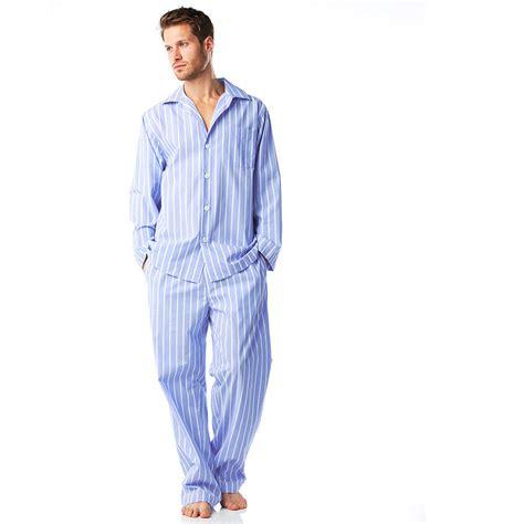 P114 Stripe Pajamas Set s cotton blue and white stripe pyjamas by pj pan