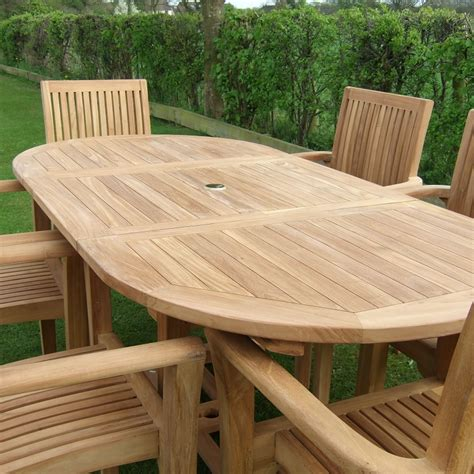 Teak Outdoor Dining Table Oval — Home Ideas Collection