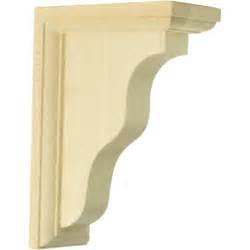 oak shelf brackets ekena millwork 2 1 4 in x 5 in x 7 in oak hamilton