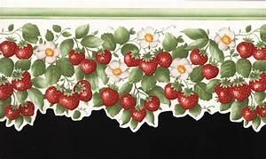 hochwertige tapeten und stoffe bordure mit erdbeeren With balkon teppich mit tapeten und bordüren