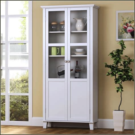 Kitchen Storage With Glass Doors  Kitchen Cabinet