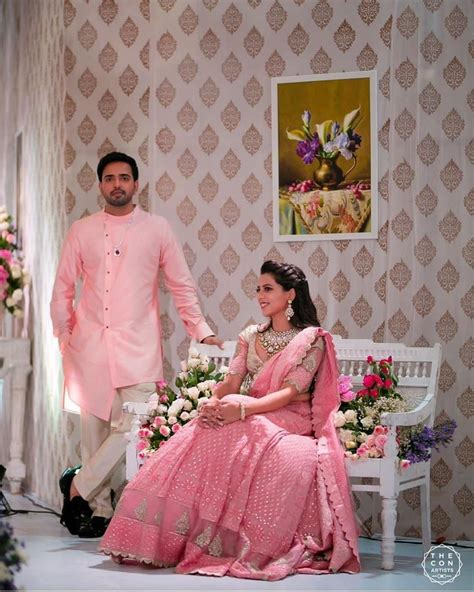Contact pakaian couple on messenger. Pretty in light pink in 2020   Engagement dress for bride, Couple wedding dress, Engagement ...