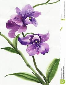 Simple Watercolor Orchids | purple-orchid-watercolor ...