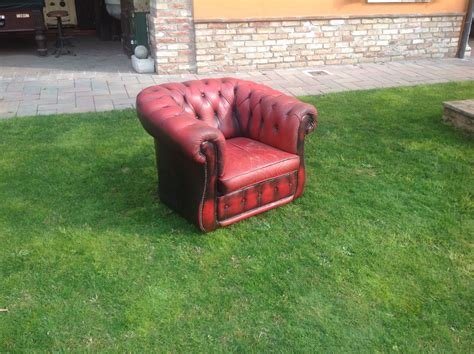 Poltrona Inglese Chesterfield : Poltrona Chesterfield Club Originale Inglese Vintage In