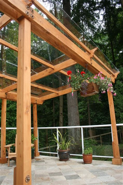 deck mounted pergola contemporary patio vancouver