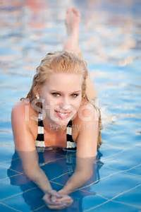 Attractive Young Girl IN Swimming Pool Stock Photos ...