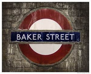 "LONDON UK Underground Baker St.Tube Sign, 8x10"" print! | eBay"