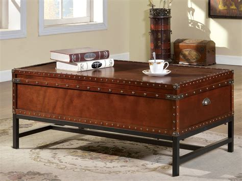 Industrial Cherry Wood Coffee Table