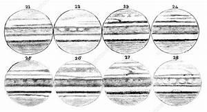 19th Century Drawings Of Jupiter - Stock Image  0331