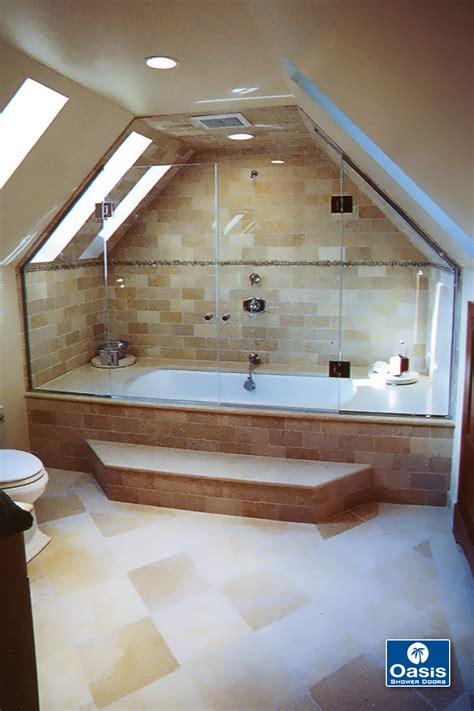neo angle shower custom shower enclosures oasis shower doors
