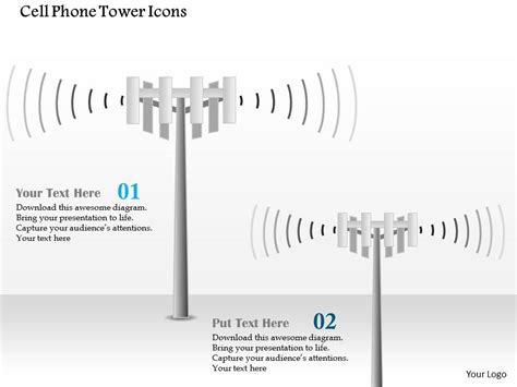 Cell Phone Tower Icons Cellular Mobile Ppt Slide