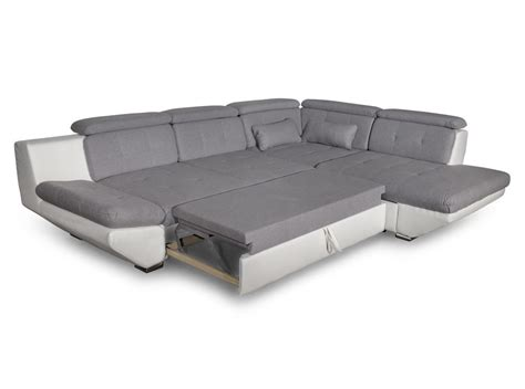 canapé convertible tiroir canapé convertible avec tiroir bi matière gris clair