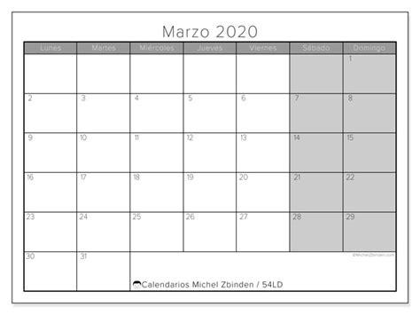 foto de Calendario marzo 2020 54LD Michel Zbinden ES