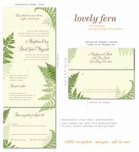 green wedding invitations on 100 recycled paper lovely With all in one wedding invitations recycled