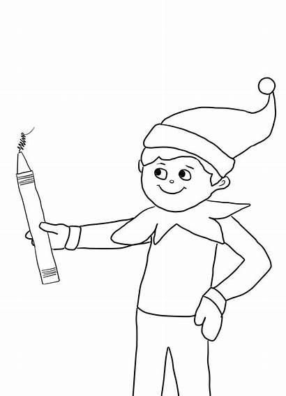 Coloring Elf Shelf Popular