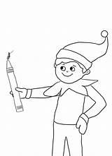 Coloring Elf Shelf Popular sketch template