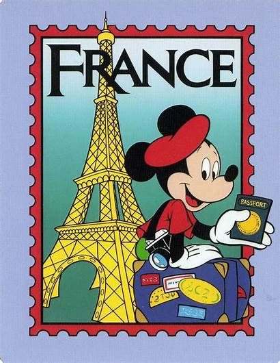 Disney Mickey Epcot Mouse France Postcard French