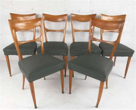 italian mid century modern furniture set of italian mid century modern osvaldo borsani style dining chairs for sale at 1stdibs