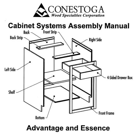 Kitchen Cabinets Installation Manual assembly manual northern granite and cabinetry