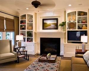Furniture On Either Side Fireplace Home Design Ideas