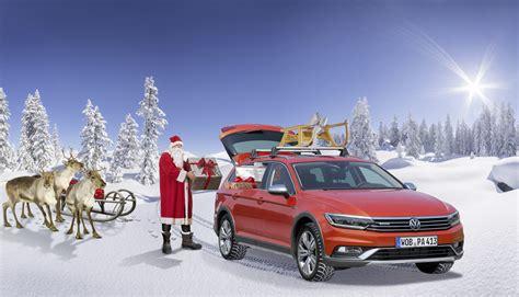 volkswagen santa santa claus ditches sleigh and reindeer for vw passat alltrack