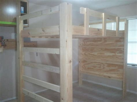 how to build a full size loft bed with desk how to build a full size loft bed jays custom creations