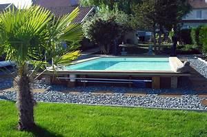 piscine francaise ossature acier remplissage bois oceanide With superior piscine hors sol bois rectangulaire 3m 2 piscine bois 5x3m