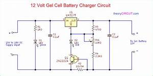12 Volt Gel Cell Battery Charger Circuit