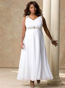 Simple plus size wedding dresses cherry marry for Plus size white dresses for wedding