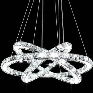 Modern galaxy led k crystal ring chandelier pendant light