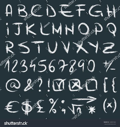 numbers in letters vector handwritten alphabet letters numbers symbols stock 49848