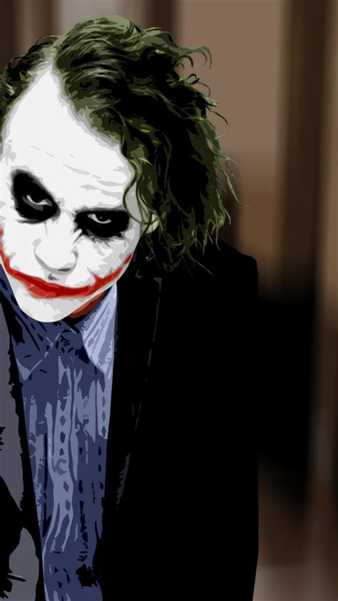 Batman Joker Joker Hd Wallpaper For Mobile by Heath Ledger Joker Wallpaper 74 Images