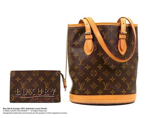 authentic louis vuitton monogram petit bucket bag