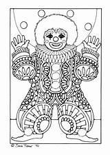 Clown Coloring Kleurplaat Pages Clowns Circus Malvorlage Kleurplaten Adult Crafts Carnaval Mandala Edupics Sheets Printable Van Adults Colouring Mask Carnival sketch template