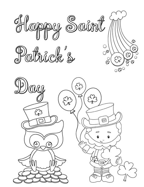 printable st patricks day coloring pages  designs