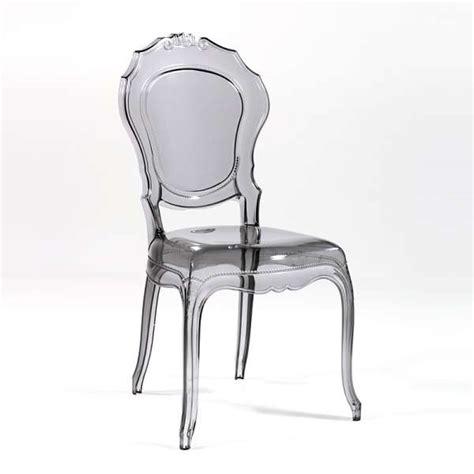 chaises en plexiglas chaise design en polycarbonate style régence époque
