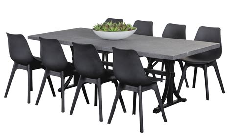 plastic outdoor dining sets ancona black 8 seater rome