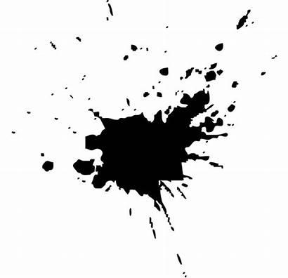 Ink Blot Stain Splat Rorschach Paper Orange