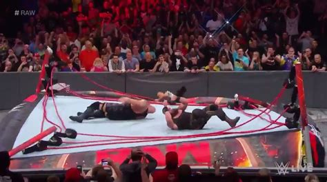 wwe ring collapses  braun strowman suplexes  big show   top ropes video total