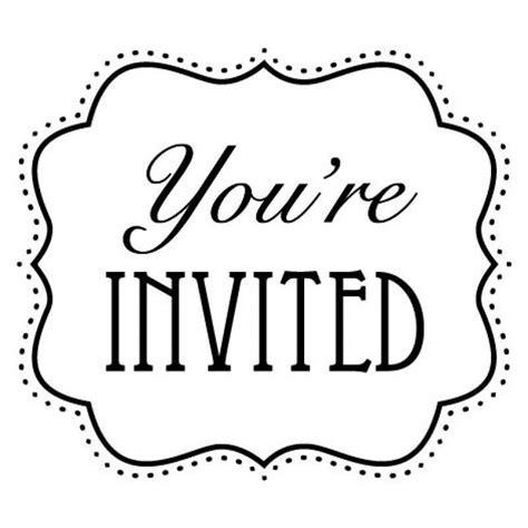 You Re Invited Template Word Unique Clip Art Invitation