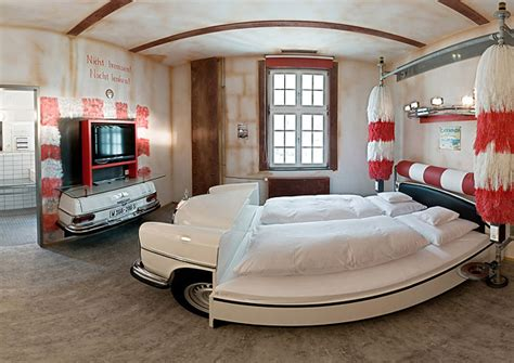 Amazing Car Themed Rooms Of V8 Hotel, Germany