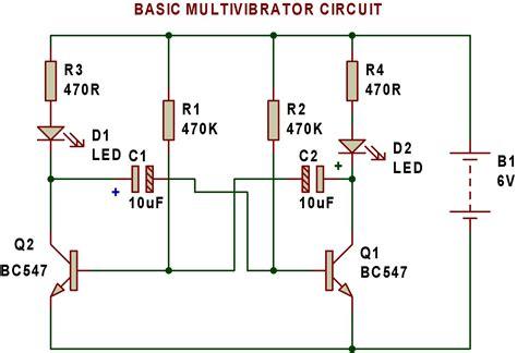 Multivibrator Buildcircuit Electronics