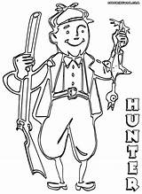 Hunter Coloring Pages Colorings sketch template