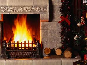 New year wallpapers New Fireplace and Christmas Tree ...