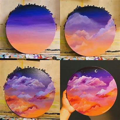 Painting Acrylic Canvas Paintings Beginners Vinyl Record