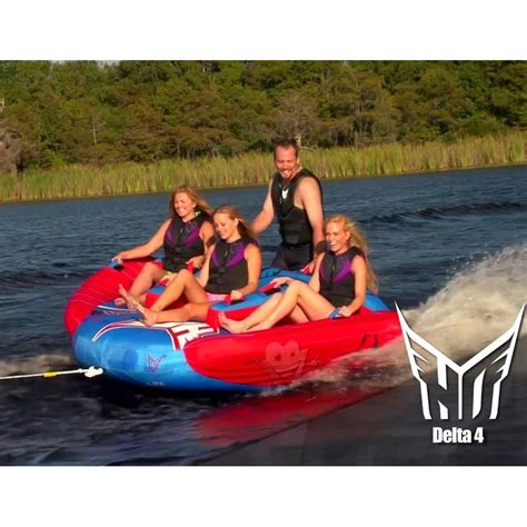 Ho Boat Tubes by Ho Sports Delta 4 Person Towable Inflatable Water Tube