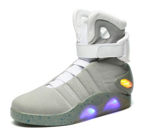New Nike Light Up Shoes by Nike Air Mag Back To The Future Light Up Grey Trainers