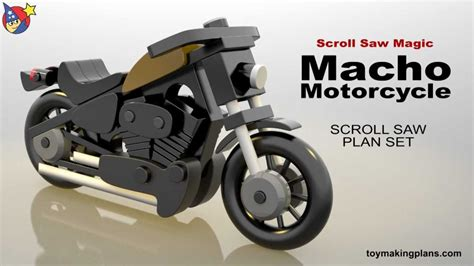 wood toy plans macho motorcycle youtube