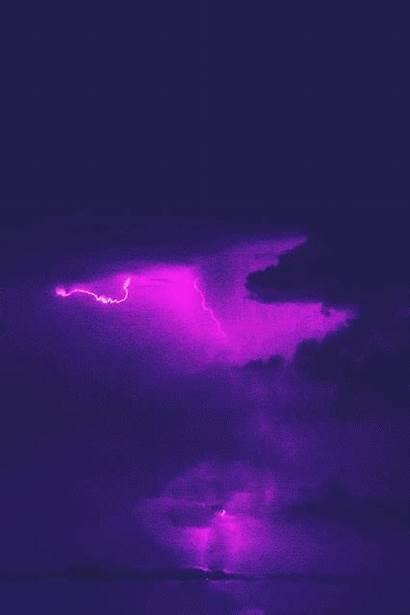 Aesthetic Purple Lightning Anime Lavender Dept Audiovisual