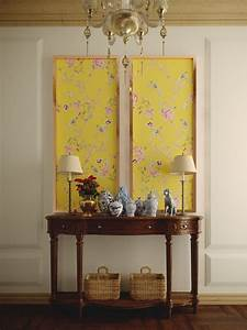 Wall, Decor, Classic, Yellow, Chinoiserie, Panel, Without, Frame